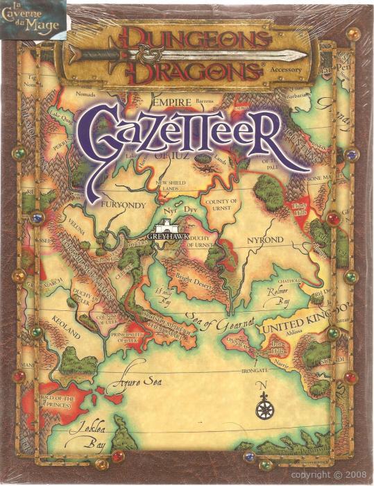DUNGEONS DRAGONS Gazetteer Wizards of